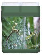 Dillweed And Caterpillars Duvet Cover