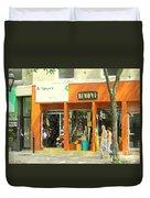 Dimona Latin Quarter Romantic Morning Summer Stroll Pretty Streets Montreal City Scene C Spandau Duvet Cover