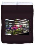 Diner Flowers Duvet Cover