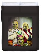 Diners Drive-ins And Fava Beans And Chianti Duvet Cover