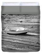 Dinghy At Low Tide Duvet Cover