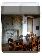 Dining At Donegal Castle Duvet Cover