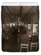 Dining Car Duvet Cover