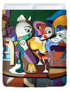 Dinner At Mario's Duvet Cover by Anthony Falbo