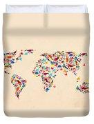 Dinosaur Map Of The World  Duvet Cover
