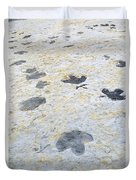 Dinosaur Tracks Duvet Cover