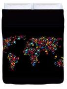 Dinosaurs Map Of The World   Duvet Cover by Mark Ashkenazi