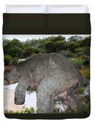 Diprotodon Duvet Cover