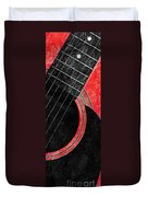 Diptych Wall Art - Macro - Red Section 2 Of 2 - Giants Colors Music - Abstract Duvet Cover