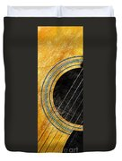 Diptych Wall Art - Macro - Gold Section 1 Of 2 - Vikings Colors - Music - Abstract Duvet Cover