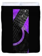 Diptych Wall Art - Macro - Purple Section 2 Of 2 - Vikings Colors - Music - Abstract Duvet Cover