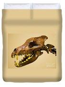 Dire Wolf Skull Fossil Duvet Cover