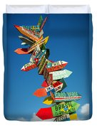 Directions Signs Duvet Cover