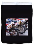 Dirt Bikes Duvet Cover by Rick Piper Photography
