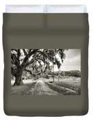 Dirt Road On Coosaw Plantation Duvet Cover