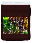 Dirty Bottles Duvet Cover by Carlos Caetano