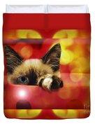 Disco Kitty 2 Duvet Cover