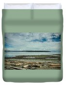 Low Tide Along The Discovery Passage Duvet Cover