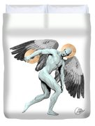 Discus Thrower Angel Duvet Cover