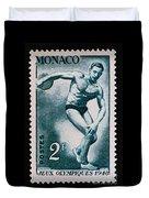 Discus Vintage Postage Stamp Print Duvet Cover
