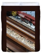 Dismantled Train Station Duvet Cover by Luis Alvarenga