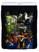 Disney Epcot Japanese Koi Pond Duvet Cover