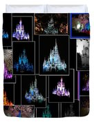Disney Magic Kingdom Castle Collage Duvet Cover