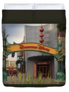 Disneyland Downtown Disney Signage 03 Duvet Cover