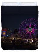 Disneyland Ferris Wheel At Dark Duvet Cover