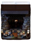 Disneyland Grand Californian Hotel Fireplace 02 Duvet Cover