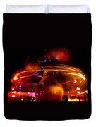 Disneyland Rockets At Night Duvet Cover