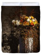 Displaying Mother Nature's Autumn Abundance Of Flowers And Colors Duvet Cover