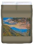 Distant Mountains - Digital Impression Paint Duvet Cover