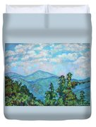 Distant View Of Peaks Of Otter Duvet Cover
