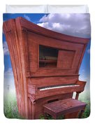Distorted Upright Piano Duvet Cover