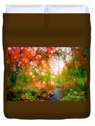 Distortions Of Autumn Duvet Cover