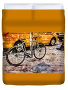 Ditchin' The Taxi To Ride Duvet Cover