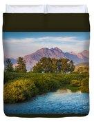 Divide Creek Morning Duvet Cover