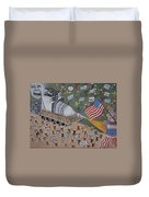 Divided We Stand Duvet Cover