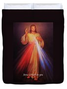 Divine Mercy Big File Duvet Cover