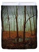 Do We Dare Go Into The Woods Duvet Cover by Karol Livote