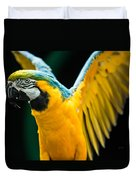 Do Your Exercise Daily Blue And Yellow Macaw Duvet Cover