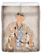 Doc. Brown Duvet Cover by Ayse Deniz