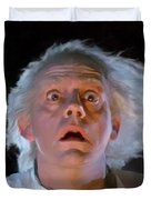 Doc Brown Duvet Cover