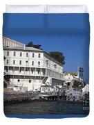 Dock At Alcatraz Island Duvet Cover