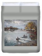 Dock At The Bay North Tonawanda Duvet Cover