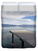 Dock Glowing In The Sunlight Duvet Cover