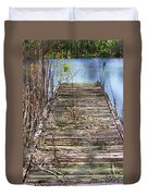 Dock In The Glades Duvet Cover