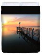 Dock On The Sunset Sound Duvet Cover