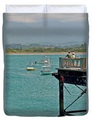 Dock Overlooking Quepos Bay-costa Rica Duvet Cover